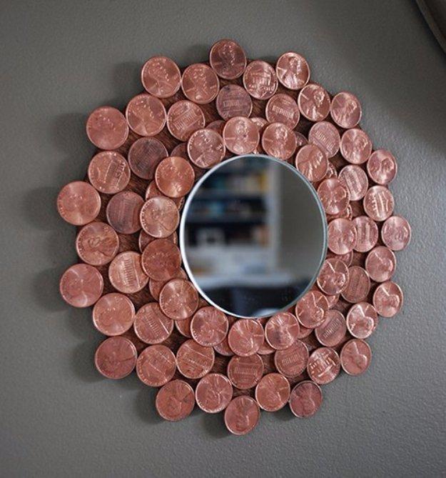 DIY έργα διακόσμησης από μικρό νομίσματα8
