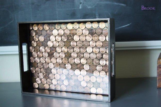 DIY έργα διακόσμησης από μικρό νομίσματα9
