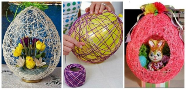 texnotropies.info Πασχαλινά διακοσμητικά αυγά από νήματα