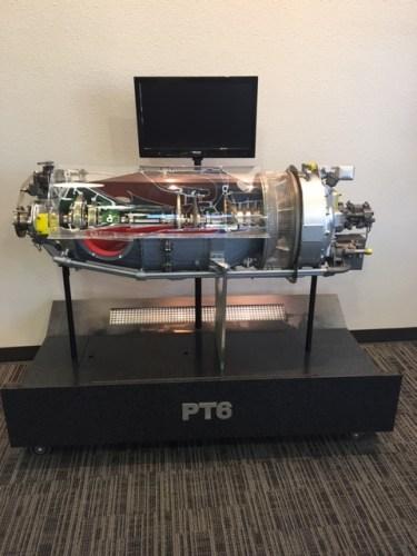Pratt and Whitney PT6 cut away jet engine