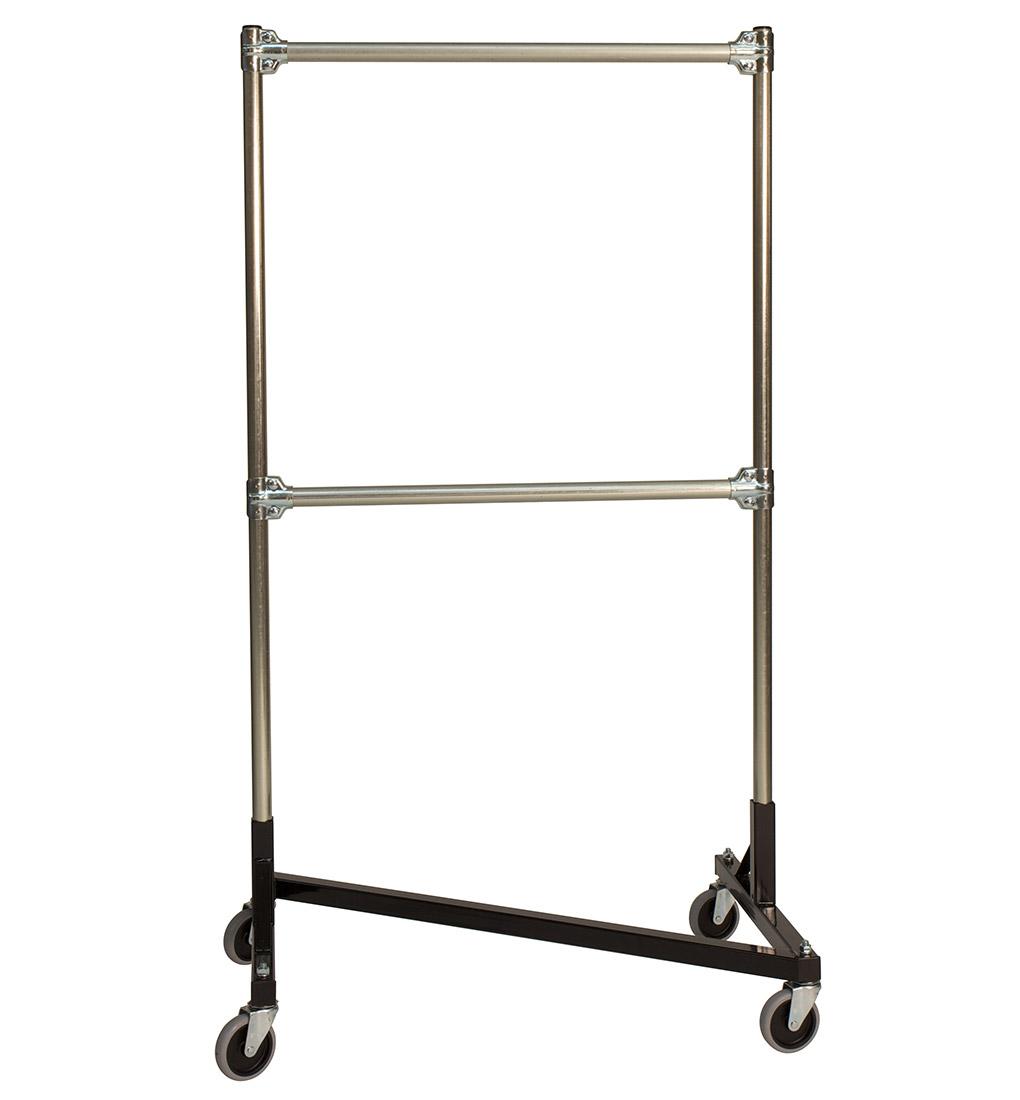 z rack heavy duty garment rack 33 long base double rail w 60 uprights