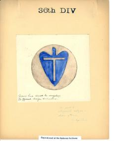 Drawing of the 36th Division Insignia from ARC Identifier 301641