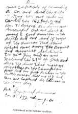 Page 2 of Private Leonard Summers' Report from ARC Identifier 301641