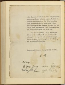 Hitler's Political Testament with Signatures, p10