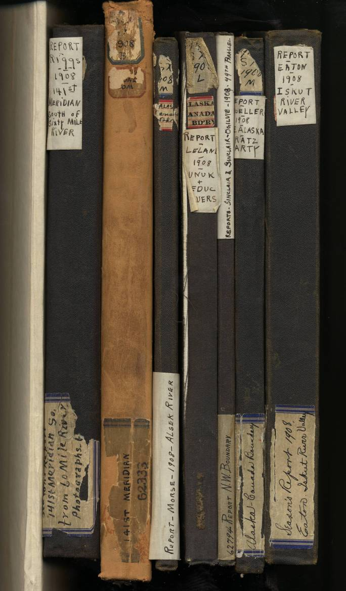 view of bound volumes in a box