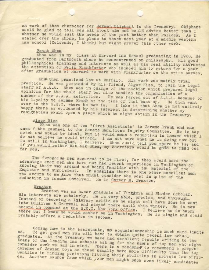 RG 64, A1 61, file 8 - John Laylin - Laylin Letter to Connor, June 1935, page 2A