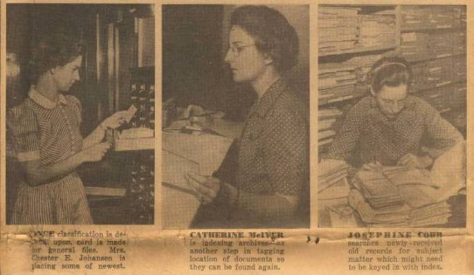 Work of the Div. of Cataloging, in Washington Post, Sept. 8, 1940