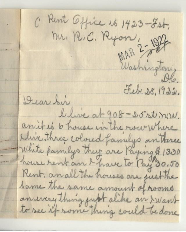 Feb 28, 1922 handwritten letter