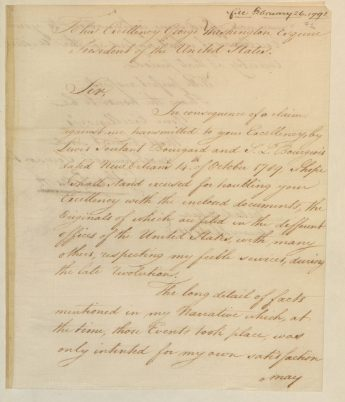 Letter from Oliver Pollock to George Washington, 2/26/1791