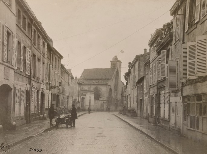 Street view of the 1st Battalion Headquarters, 313th Infantry Regt.