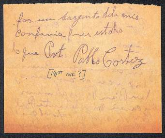 Account of Private Pablo Cortez, Company M. 141st Infantry. 36th Division