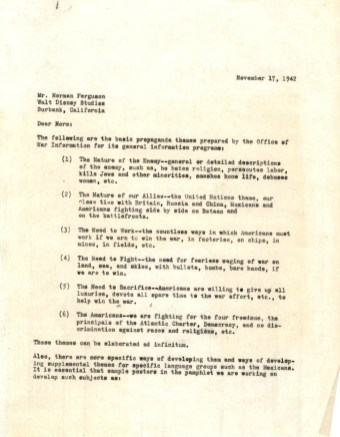 Letter from Alan Cranston to Norman Ferguson, Nov. 17, 1942_Page_1