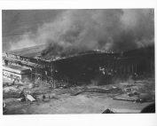 Photograph of Hangar Burning after Japanese Air Raid on Pearl Harbor.