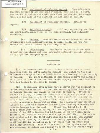 Chapter IV, p3; 313th Infantry Regiment Report of Operations 9/25 - 11/11/1918, RG 120