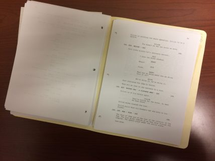 Jack of Hearts script section