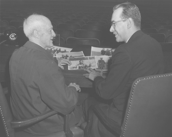Image of Foulois and Dr. Rhoads.