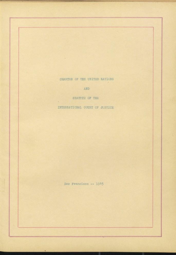U.N. Charter-Title