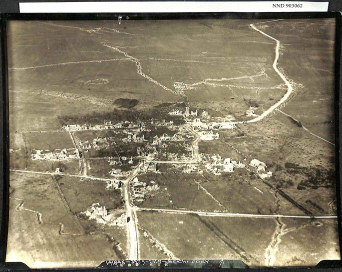 aerial photo negative of Seicheprey