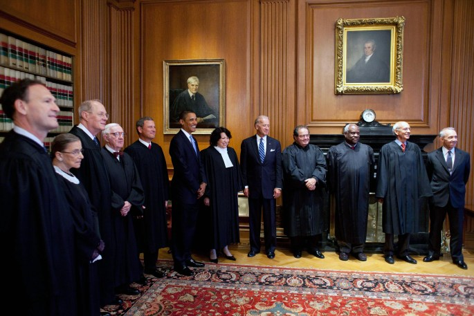 SCOTUS Justices, President and VP standing