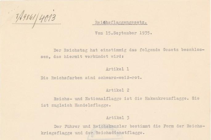 Nuremburg Laws excerpt
