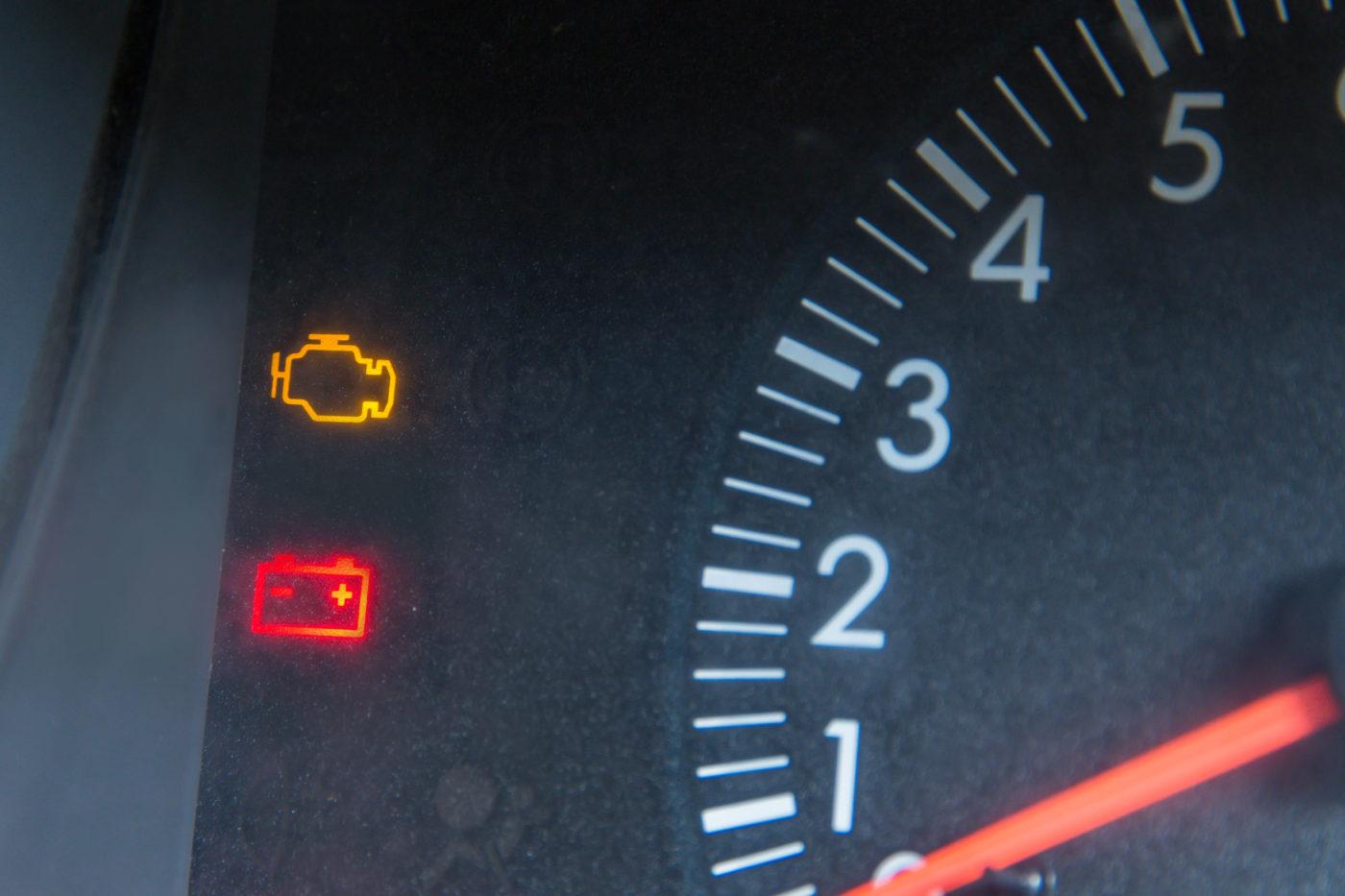 speed display screen in a car