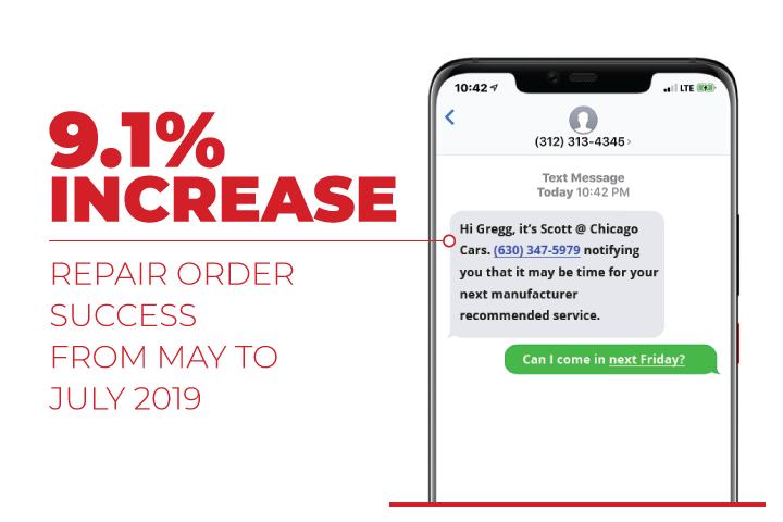 repair order message on mobile