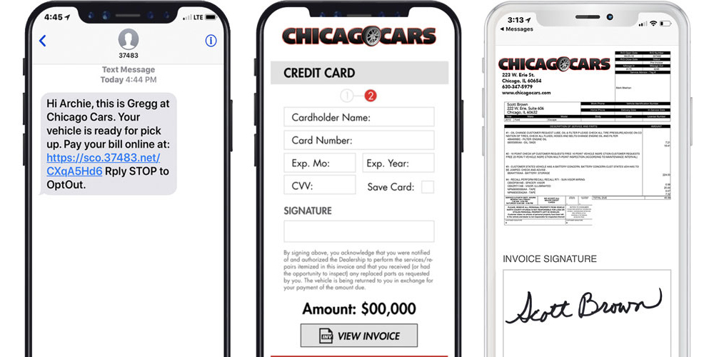 pages de paiement mobiles