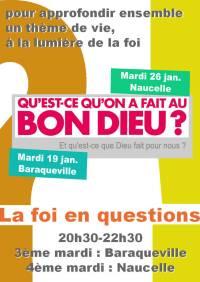 Soirée-débat, la foi en questions - 22 janvier 2016 - Qu'est-ce qu'on a fait au bon dieu...