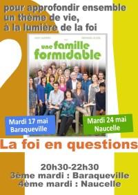 Soirée-débat : la foi en questions - Une famille formidable - mardi 17 mai 20h30-22h30