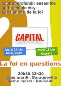 Soirée-débat : la foi en questions - Capital - mardi 21 juin 20h30-22h30