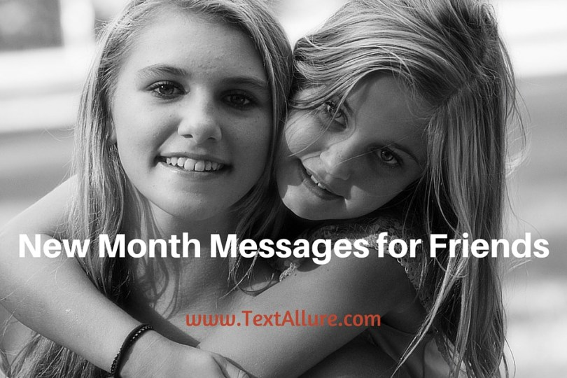 happy new month messages for friends