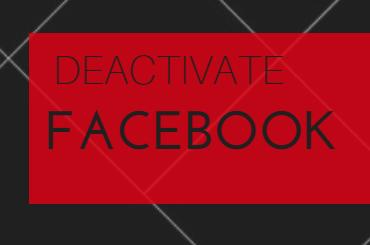 deactivate facebook 2017