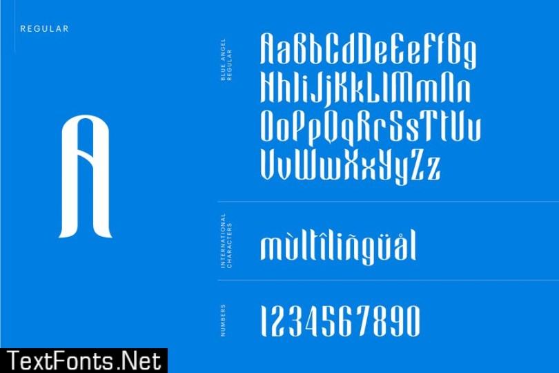 Blue Angel Font