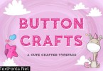 Button Crafts - Cute Crafted Typeface 3PRWHVC
