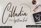 Cilladia - Ligatures Font