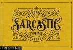 Sarcastic Typeface + Extras 1365127