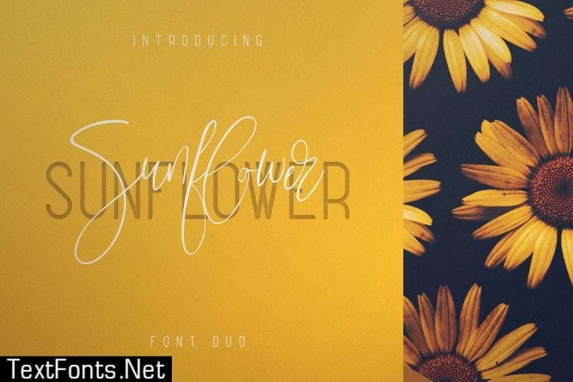 Sunflower - Font Duo