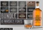 Whiskey Fonts Bundle 4577974