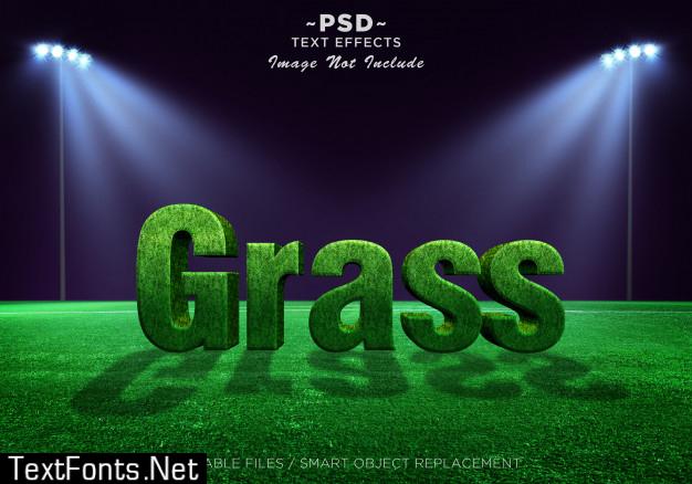 3d grass effects editable text