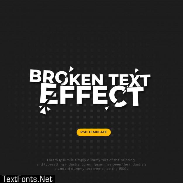 Broken cracked text effect