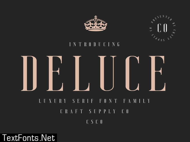 Deluce - Luxury Serif Font 3109675
