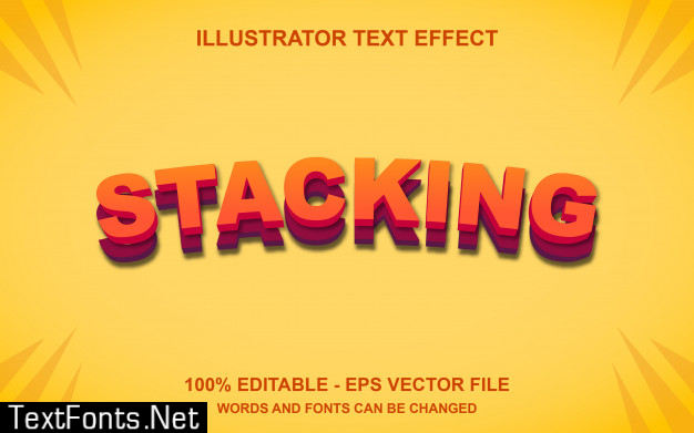 Editable text effect stacking