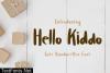 Hello Kiddo Font