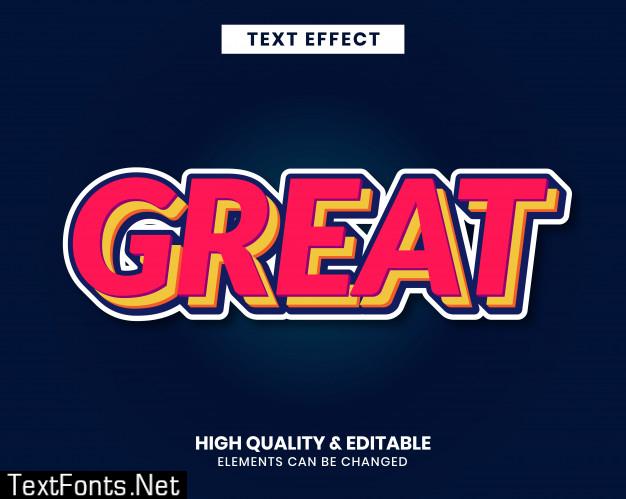 Modern sticker text effect bold color