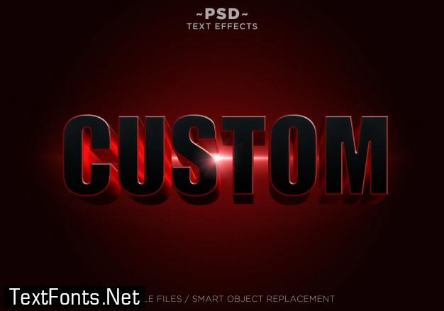 3d black red effects editable text
