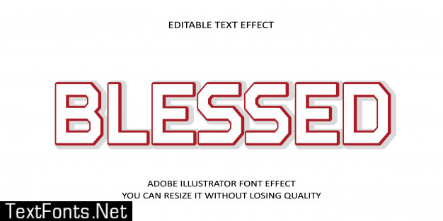 Blessed editable text font effect