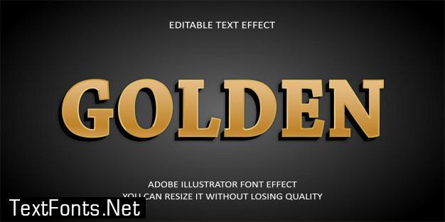Golden editable text effect