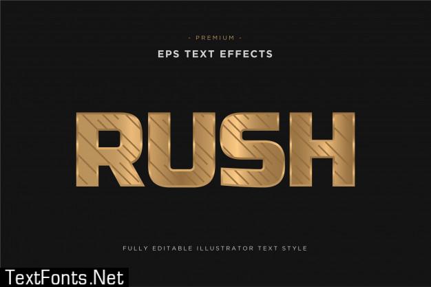 Rush luxurious gold text effect