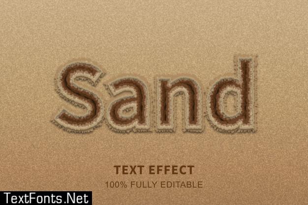 Sand beach style text effect, editable text
