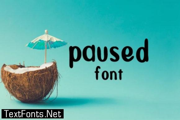 Paused Font